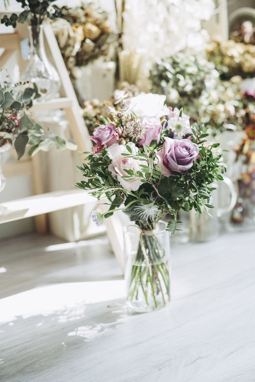 Bouquet Celebration Close-up Day Flower Flower Head Focus On Foreground Fragility Freshness Indoors  Life Events Nature No People Rose - Flower Table Vase Wedding