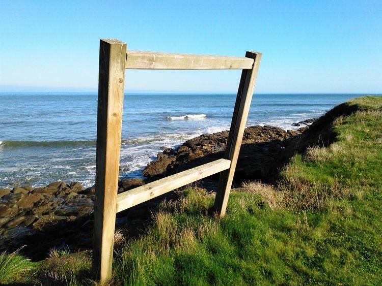 A beautiful painting. Sea Ocean Field Nature Cliffs Seaside Galicia Landscape
