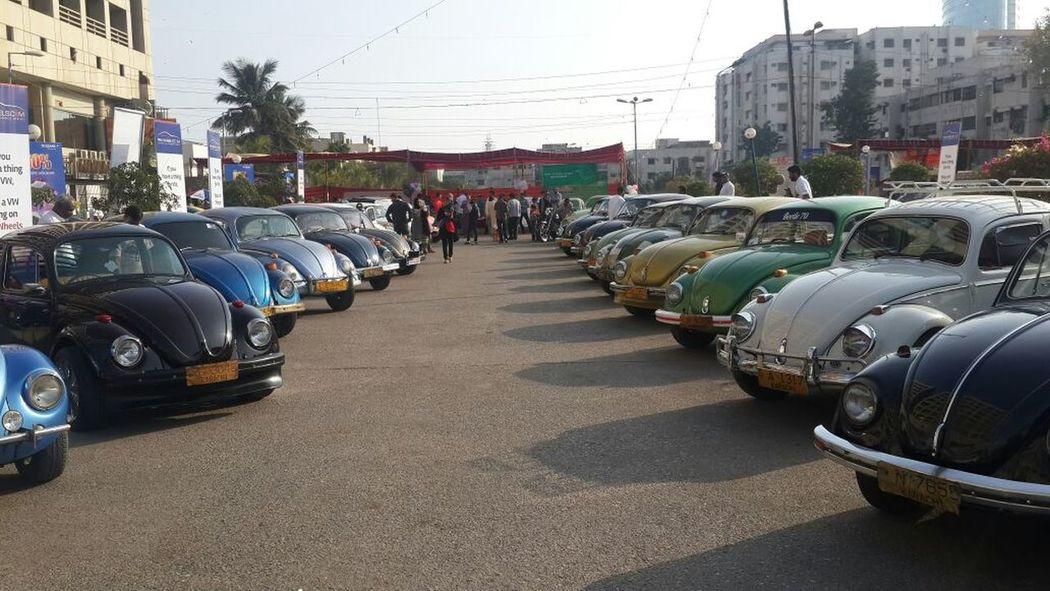 Everyday Joy Vintage Cars Volkswagen Volkswagen Bettle Show at Forum Ground, Karachi - Pakiatan