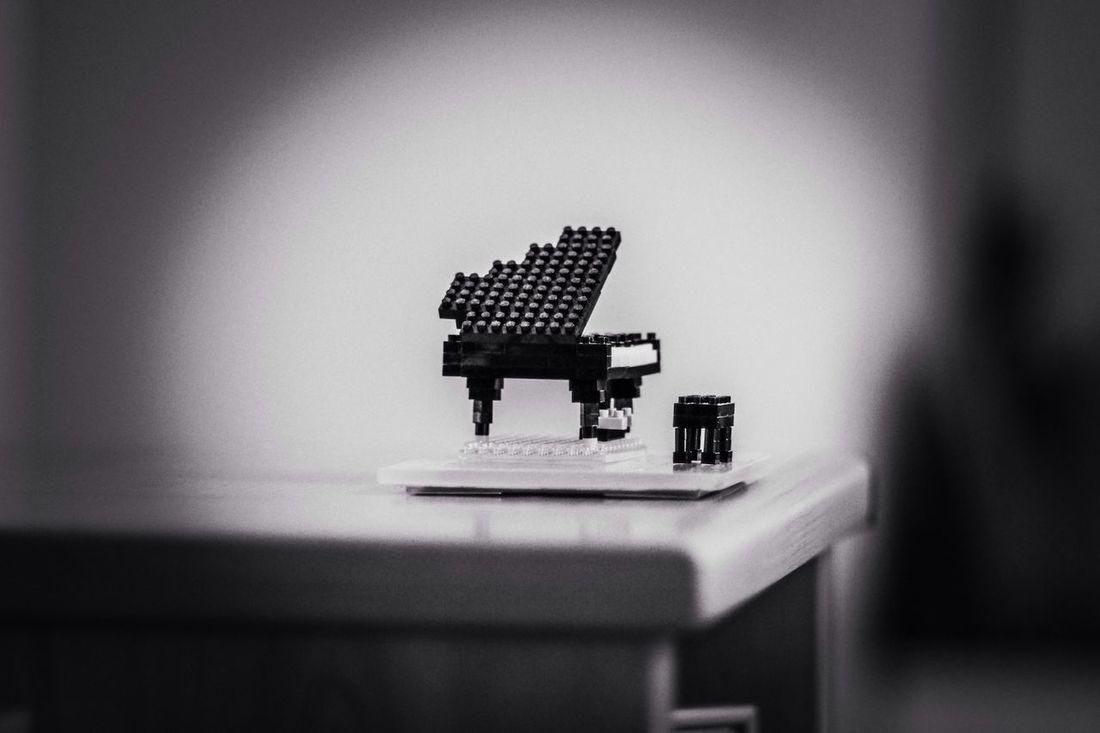 Toy Piano Grand Piano Pinhole Photography Black & White