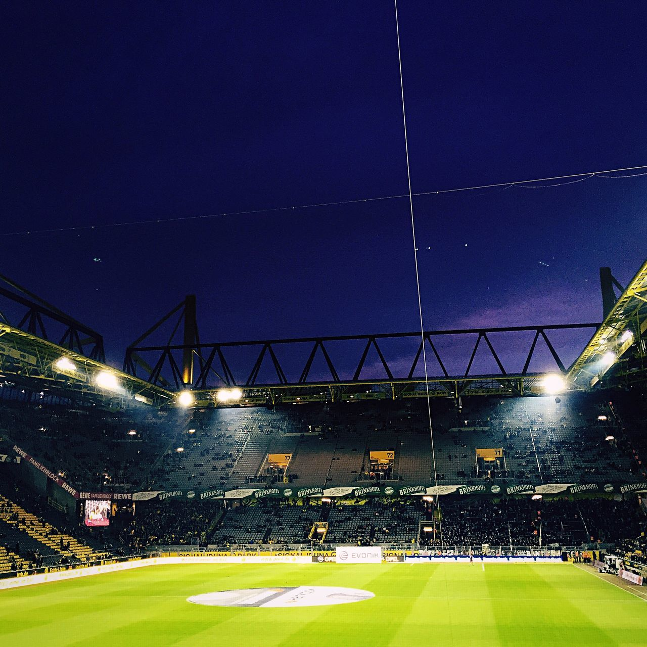 The Color Of Sport Football Sport Sports Sports Photography Soccer Borussia Dortmund Dortmund Fussball Supercup Low Angle View Night Sky Outdoors My Favorite Place Colorful
