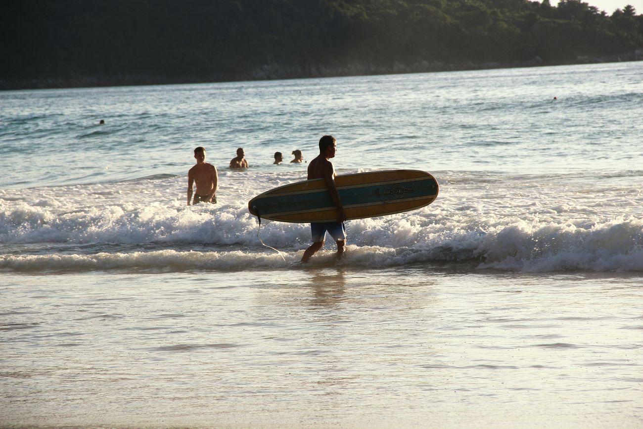 Surfer !! Phuket Thailand Surfer Surfboard Katanoibeach Beach Phuket Beach Sea Ocean ☺😊 Life Is A Beach Katanoi