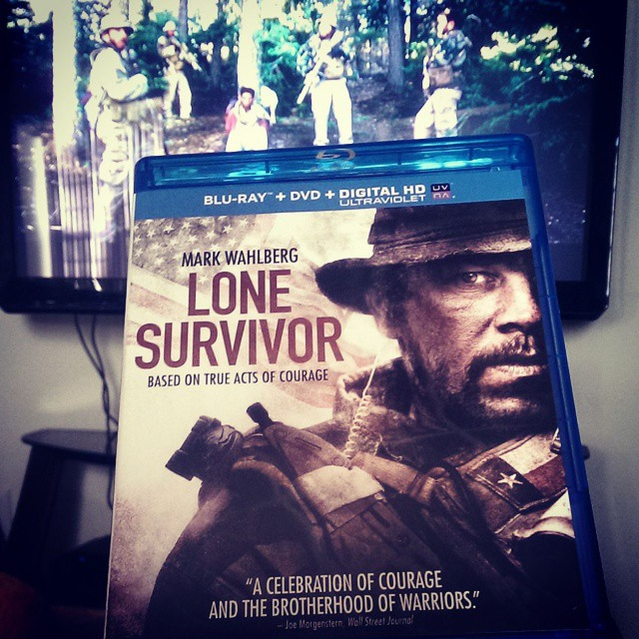 Finally purchased this after seeing it in theaters awhile ago. Amazing story of courage... Murph Marcusluttrell Navy Seal LoneSurvivor 2014
