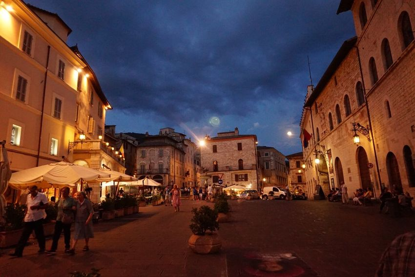Night Town Square Assisi, Italy Europe Trip MedievalTown