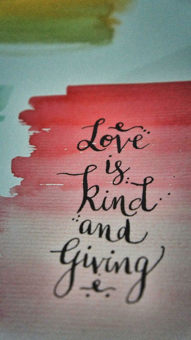 Love Handwritting Caligraphy Words Cursive Writing Watercolorpainting