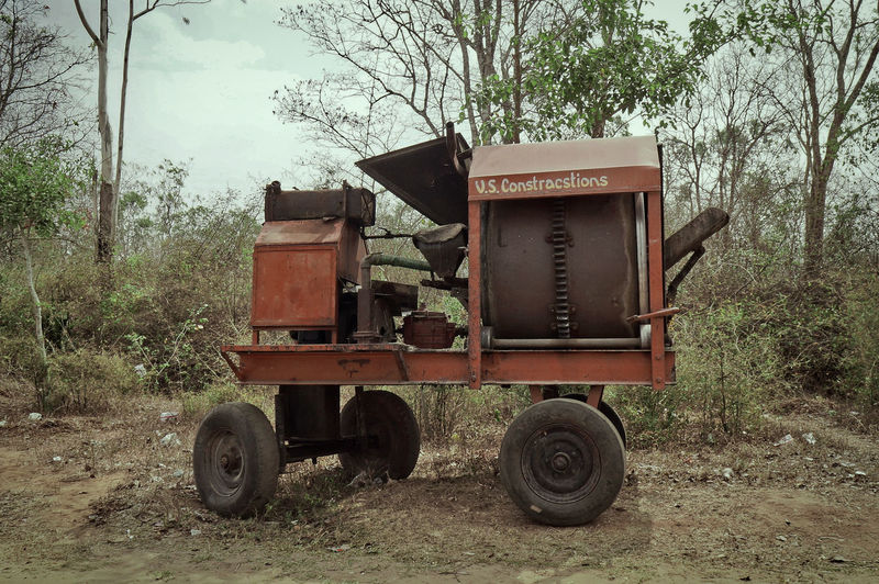 Construction Machinery Old Machines Rural India Day No People