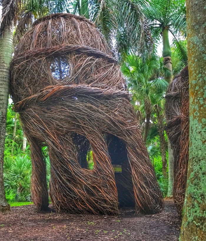 Stickwork By Patrick Dougherty Saplings Landscape Art McKee Botanical Garden