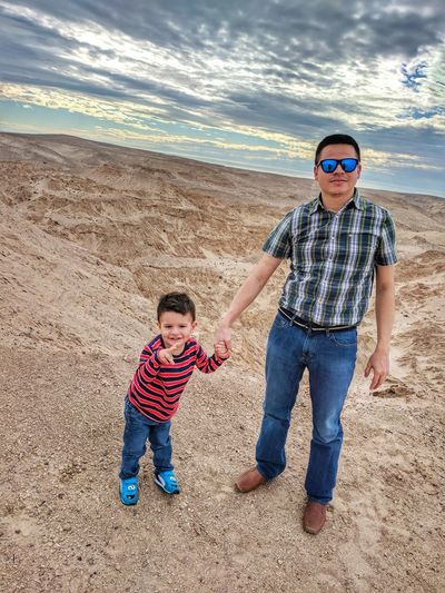 Cloud - Sky Real People Casual Clothing Family With One Child Sunglasses Vacations EyeEmNewHere Father&son