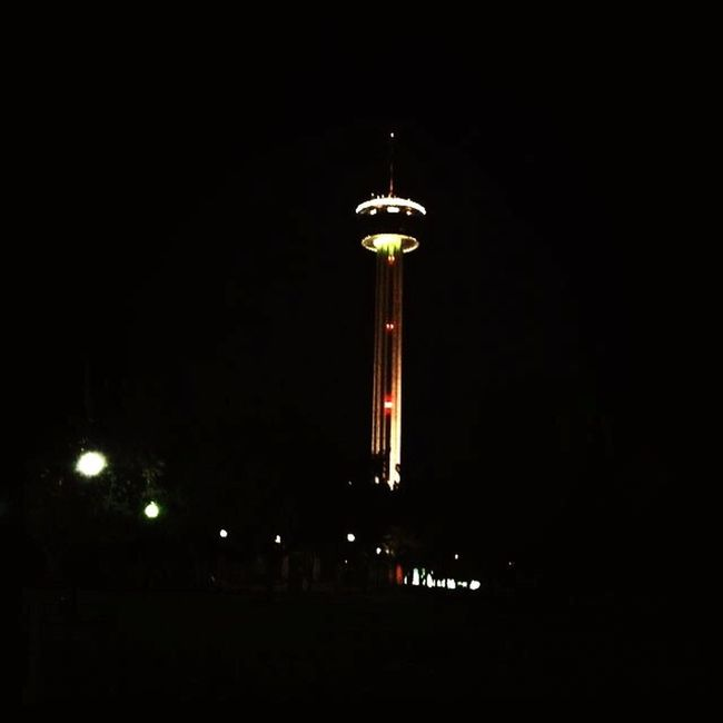Tower Of Americas Hemisfair Park All The Neon Lights