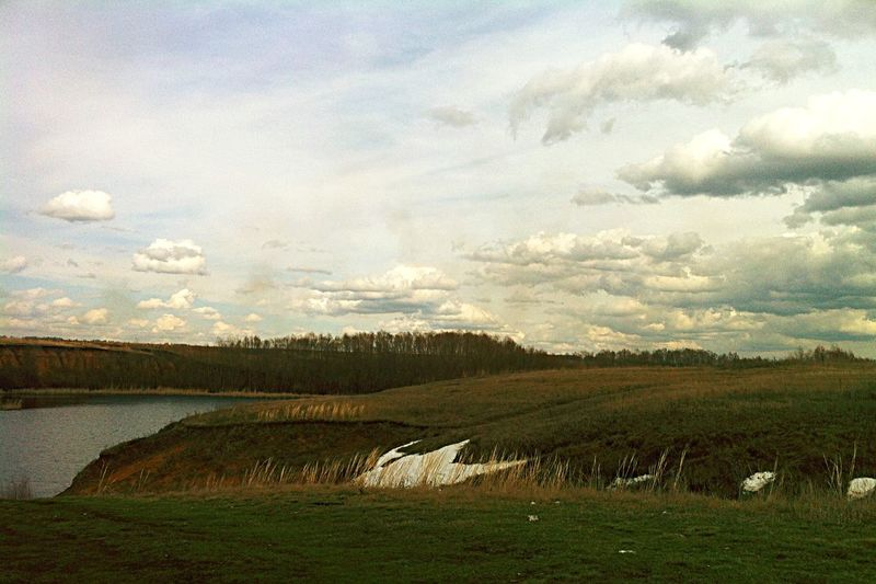 Россия природароссии Природа река река сокол небо облака обрыв