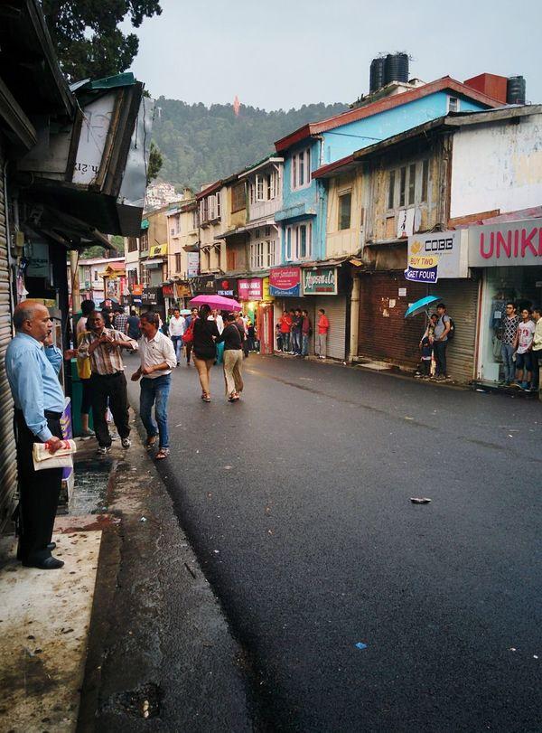 Mall Road Shimla in Monsoon Shimla Mallroadshimla First Eyeem Photo