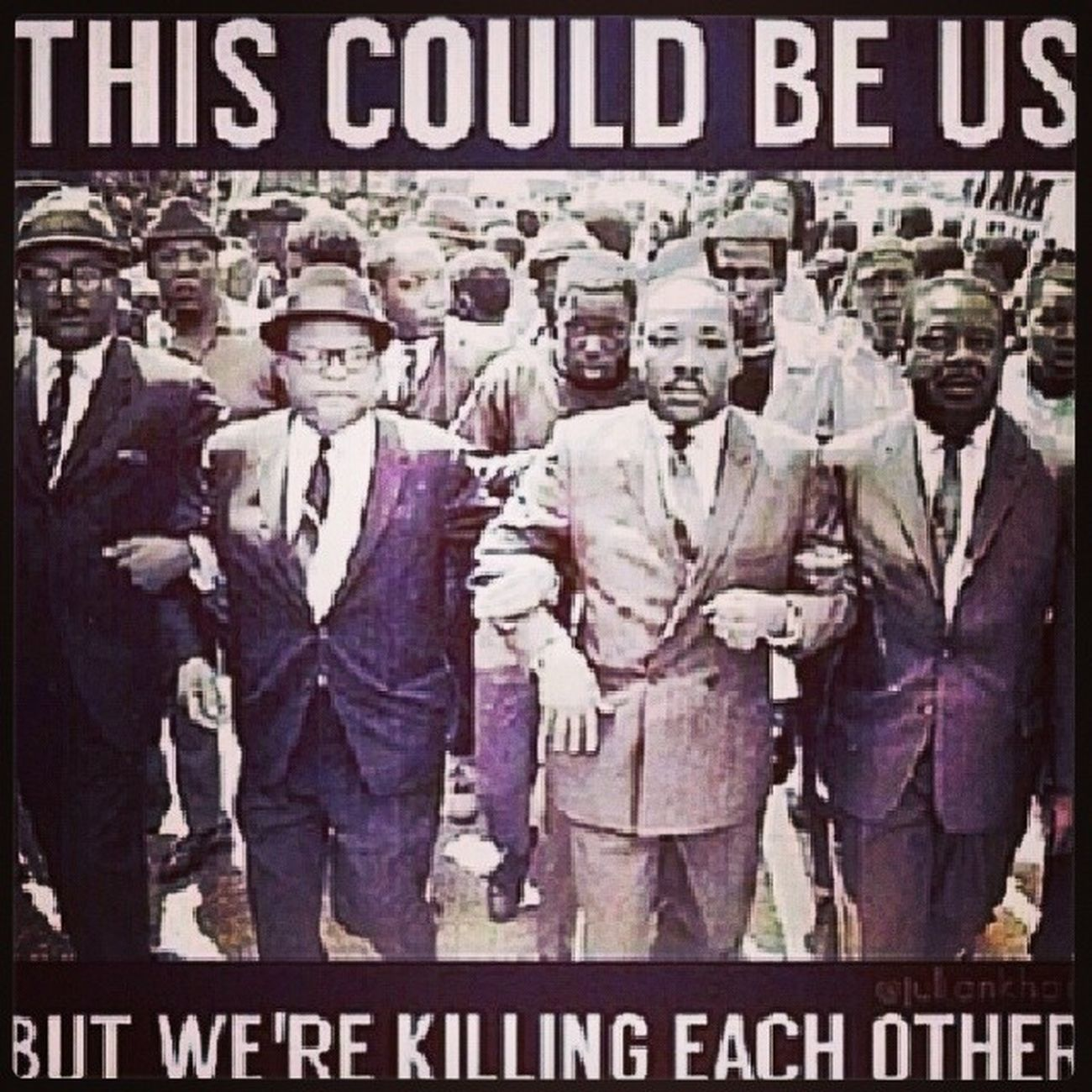 Instead of uniting and taking a stand against everyone who is against us we rather fight and kill each other. Smh this wasnt his dream. Blackhistory MLK Rip
