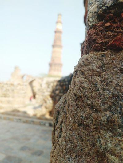 Mobile Photography at Qutab minar focus click