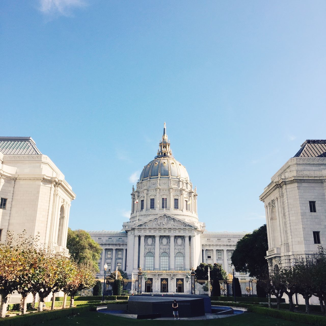 San Francisco City Hall, San Francisco, USA. Architecture Building Exterior Built Structure California City City Clear Sky Day Dome Government IPhone IPhoneography No People Outdoors San Francisco San Francisco City Hall Sky Square Travel Destinations Tree USA