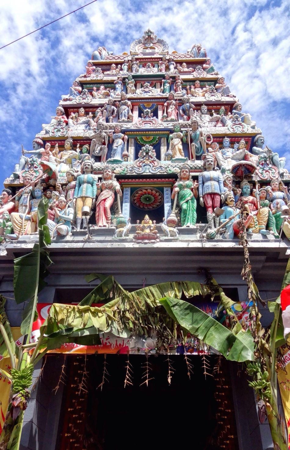 EyeEm Diversity Temple Hindu Temple Deities Deity Temple Architecture Sky And Clouds Figure Building Exterior Colorful Multiple Layers Art Is Everywhere