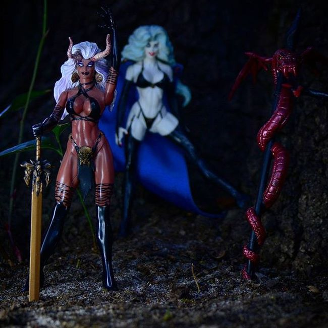 """""""We will have 2 vodka crans and some eternal damnation please! thanksss!"""" Toyonlocation Toy_nerds Ladydemon Toyphotography Toycrewbuddies Toystagram Toyartistry Evil Devil ATA_Horror_Click Shedevil Ata_dreadnoughts _tyton_ Toyoutsiders Toydiscovery Ladydeath Comiccon Sexy Female Femalefigure Collectable Actionfigures Bikini Capturedplastic Toy_quest toyslagram"""