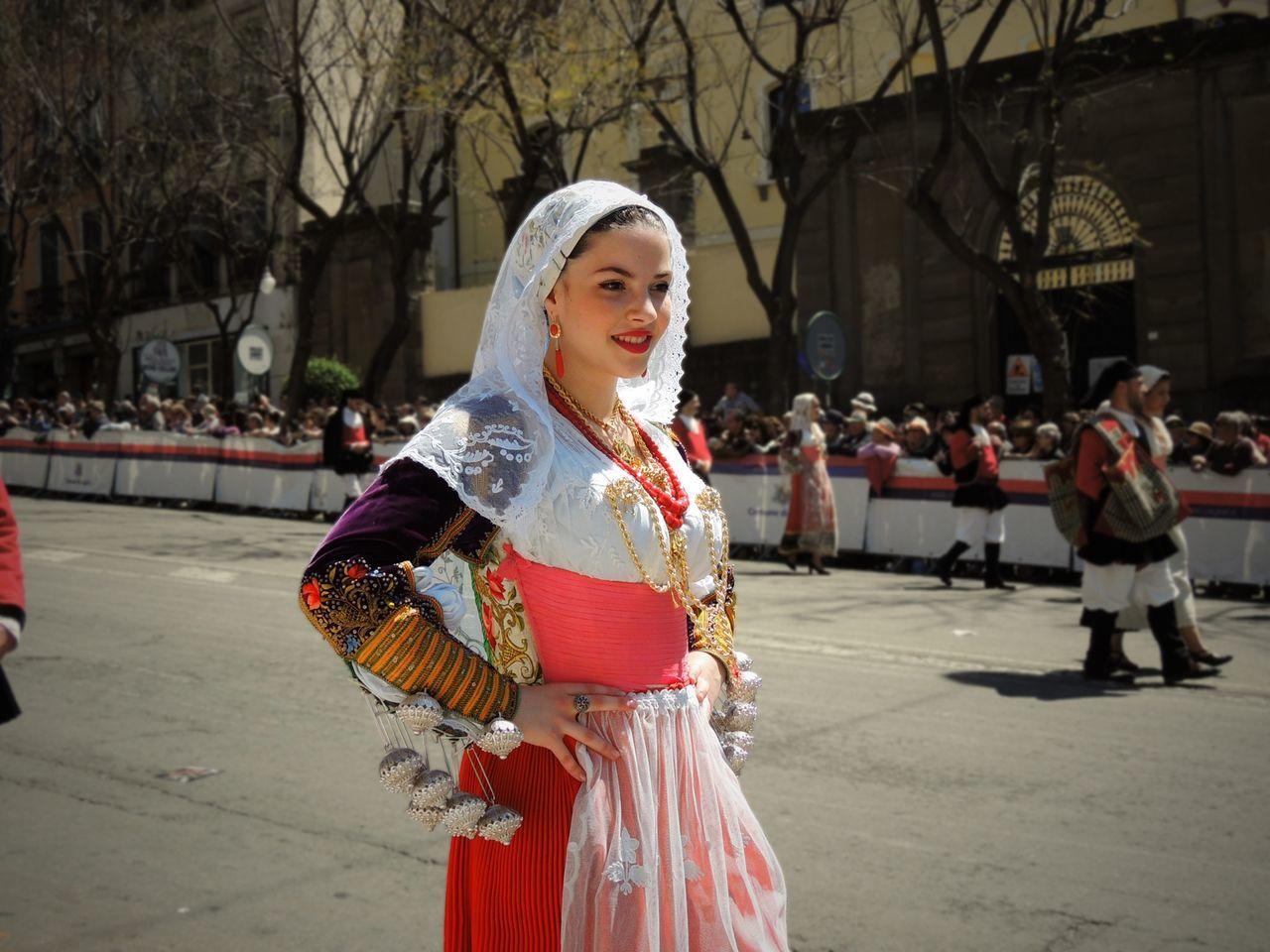 Sardinia Beautiful Girl Sardegna EloediLo Cagliari Traditional Costume Parade Sant'Efis Beauty Ittiri