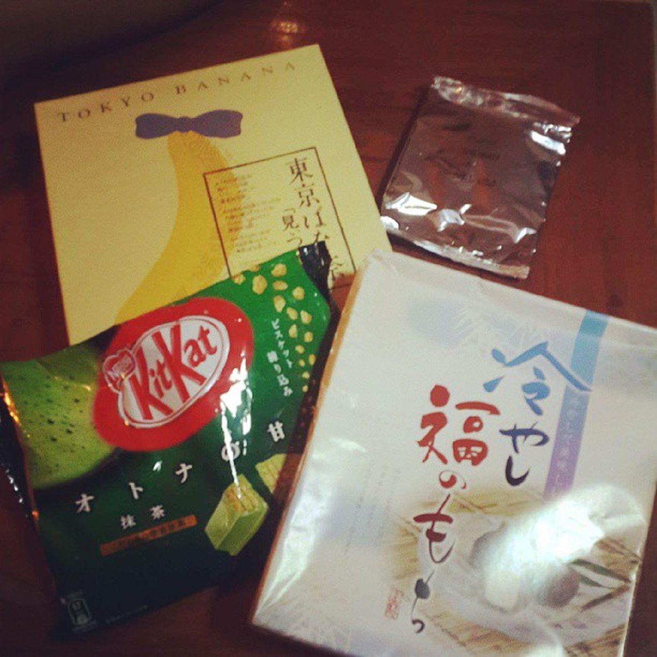 Greenteakitkat Mochi Tokyobanana Ocha yummygiftsisterlove♥