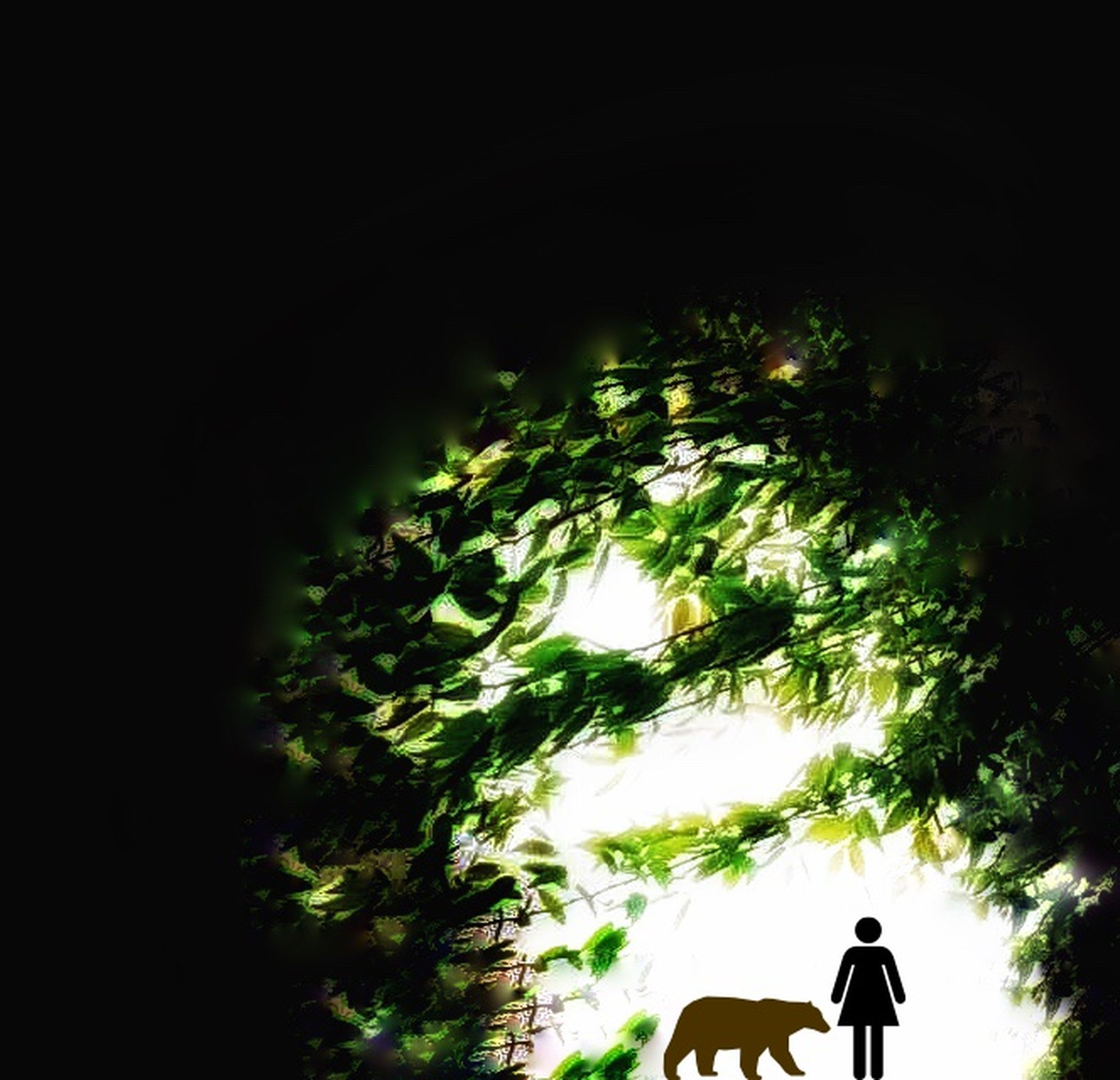 silhouette, tree, lifestyles, leisure activity, unrecognizable person, tranquility, nature, outline, growth, beauty in nature, tranquil scene, outdoors, scenics, sky, day, dark, idyllic
