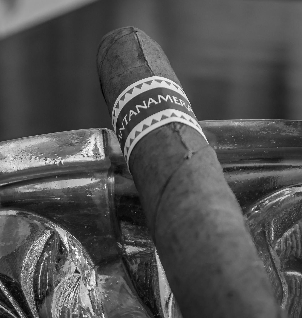 Ashtray  Black & White Blackandwhite Photography Cigar Close-up Day Focus On Foreground Glass Indoors