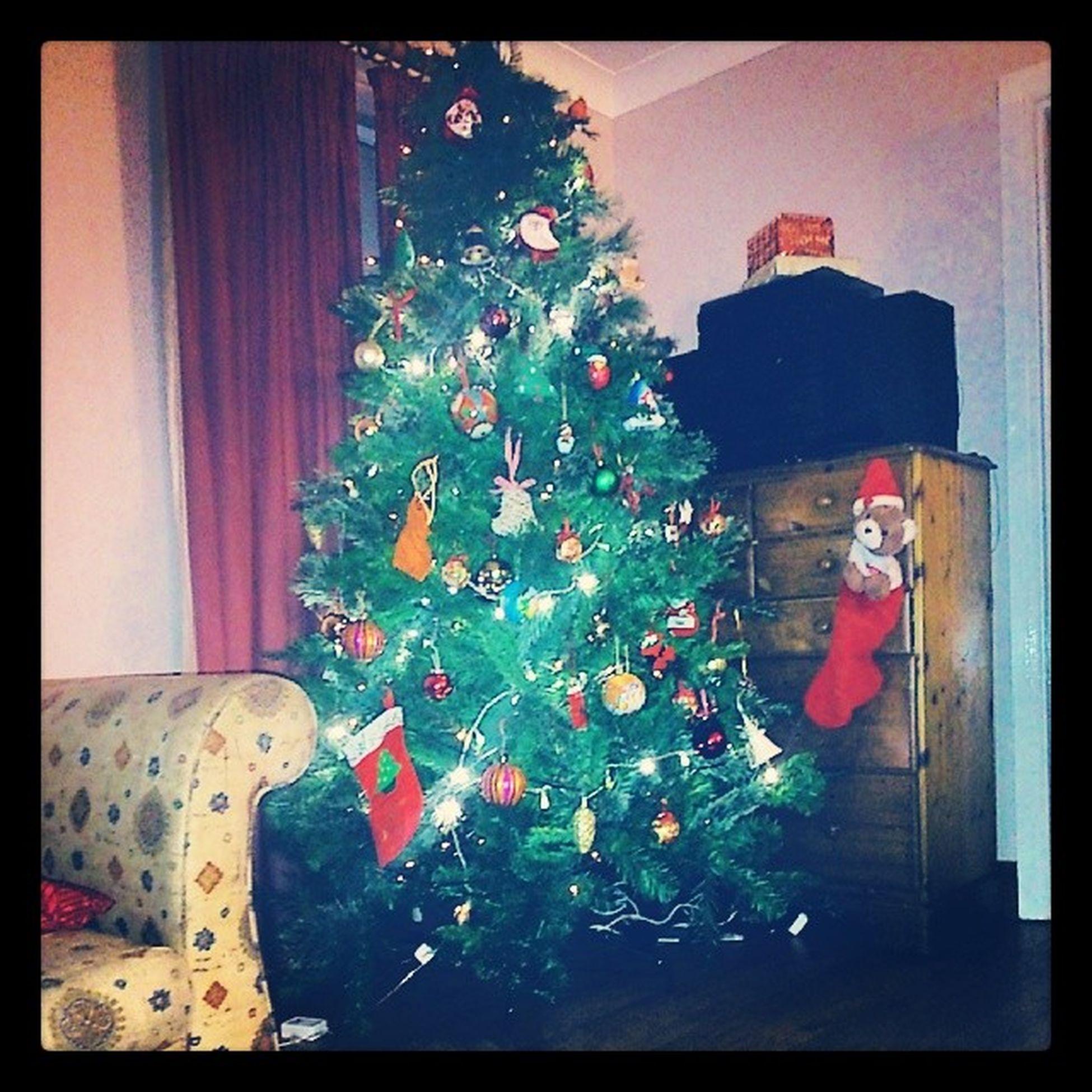 Christmas tree finally up Betterlatethennever Christmas Hoho