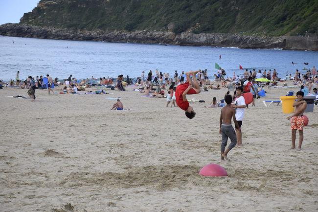 Beach Jumpstagram Lifestyles San Sebastian Beach Summer Tourist Travel Destinations Vacations