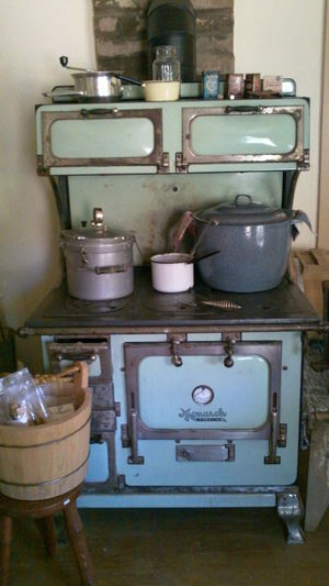 Pioneer Camping Stove Close-up Day Domestic Kitchen Domestic Room Indoors  Kitchen No People Old-fashioned Retro Styled Stove Woodstove