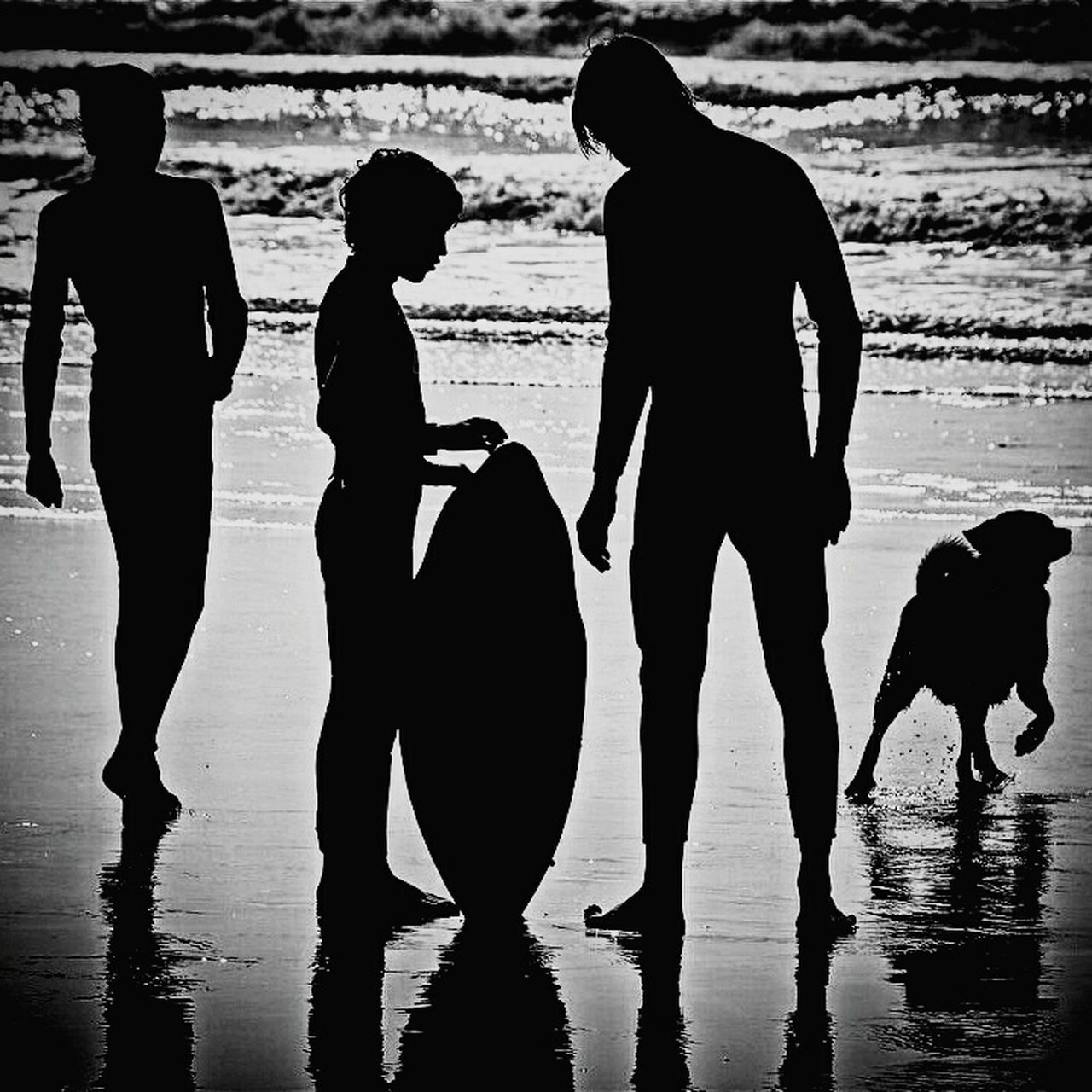 Surfing surfingphotograpgy Silhouette Reflection Child Leisure Activity People Outdoors Water Men Adventure Friendship Adult Day First Eyeem Photo