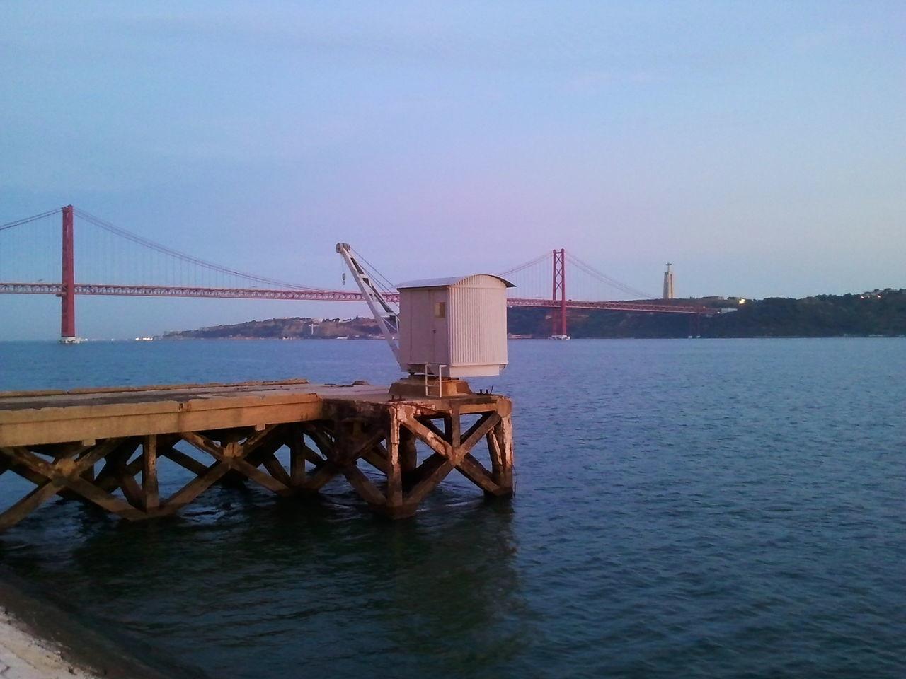 Lisbon Lisboa Lisbonne Lisbona Bridge Bridge View River Tejoriver Tejo Rio Tejo Docks