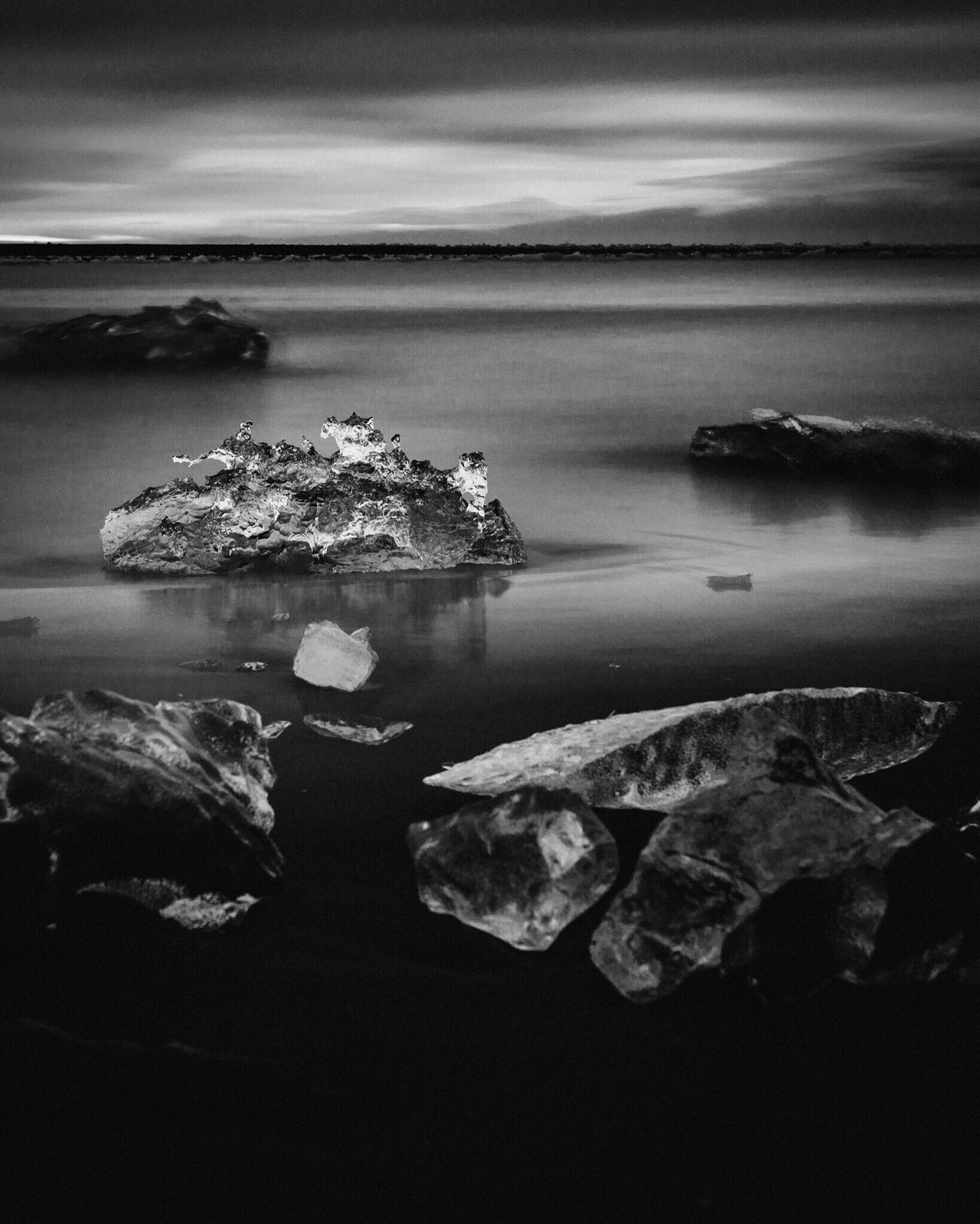 Ocean Ice Sea Sea And Sky Iceland Nature Exploring Photo Photography Photooftheday Check This Out Eye Em Nature Lover EyeEm Best Shots EyeEm Gallery OpenEdit Traveling Light Beautiful Blackandwhite Black & White Blackandwhite Photography Blackandwhitephotography Monochrome Noir Et Blanc Mono
