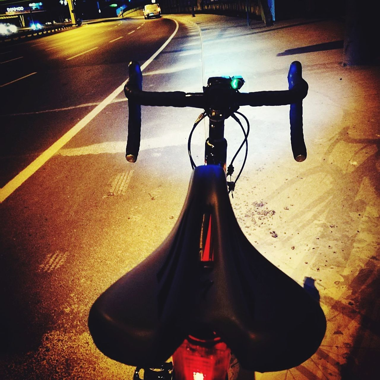 Bicycle Transportation Night City Only Men One Man Only Outdoors People Adult