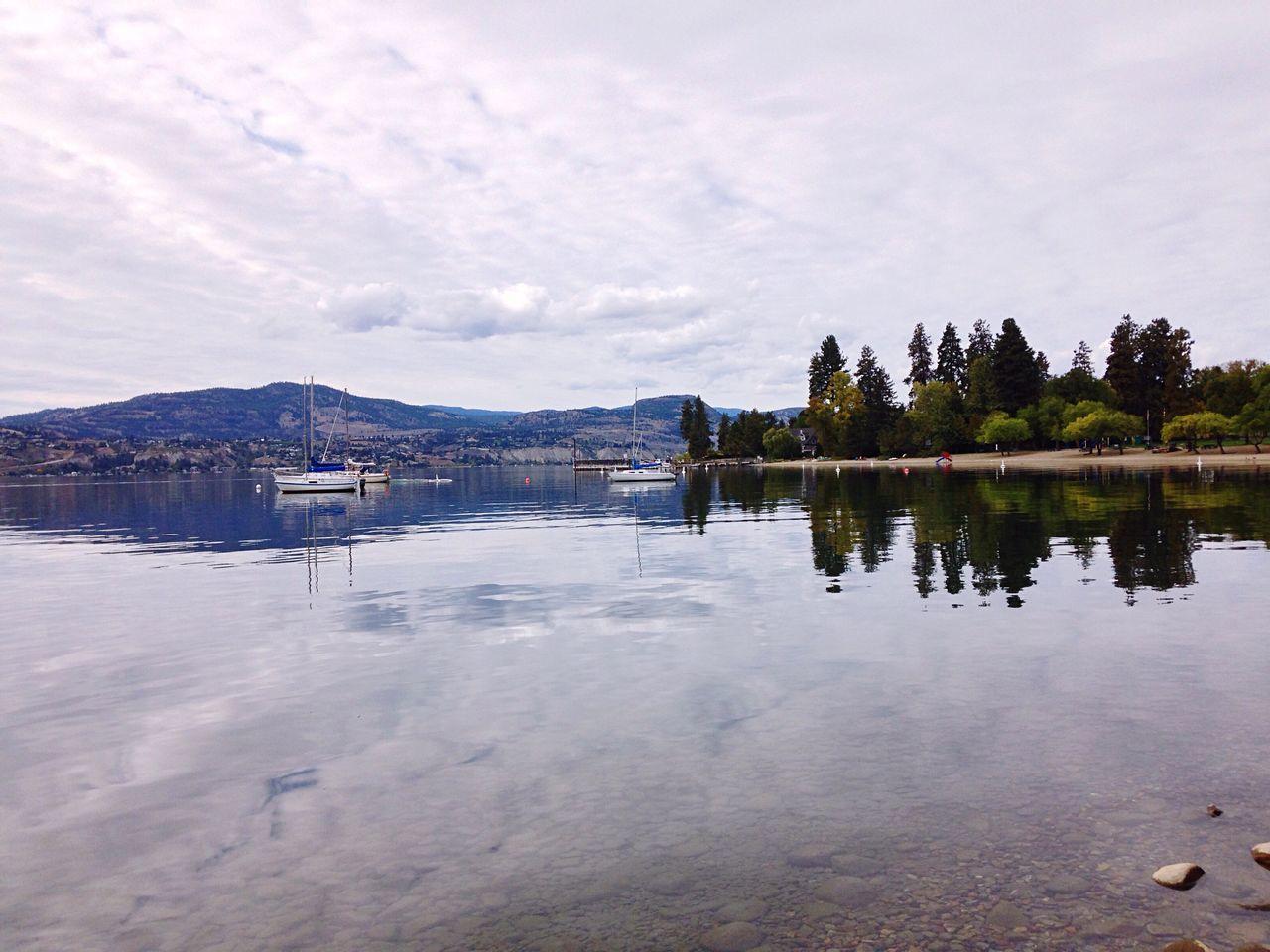 Sailboats Reflections Lake Water Cloudy Skies Rocks And Water Okanaganlake Naramata Nature_collection Nature