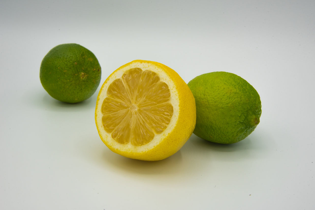 Citrus Fruit Close-up Day Food Food And Drink Freshness Fruit Green Color Healthy Eating Indoors  Lime No People Studio Shot White Background