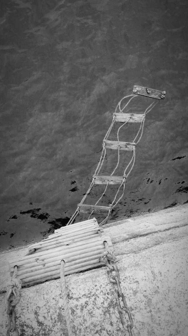 floating ladders Albert pier Penzance Water Ocean View Seascape EyeEm Best Shots - Black + White Black & White Streetphoto_bw Monochrome Photography Textures And Surfaces From My Point Of View EyeEmBestPics From My Perspective Beuatiful❤ Photo Of The Day Walking Around The City  Walking Around Eye4photography  EyeEm Best Shots Random Photos Around You Harbour View Water Surface Industrial Landscapes Marine, Ocean, Oceanic; Saltwater, Seawater; Oceangoing, Seagoing, Seafaring; Maritime, Naval, Nautical Ocean❤ Ladder