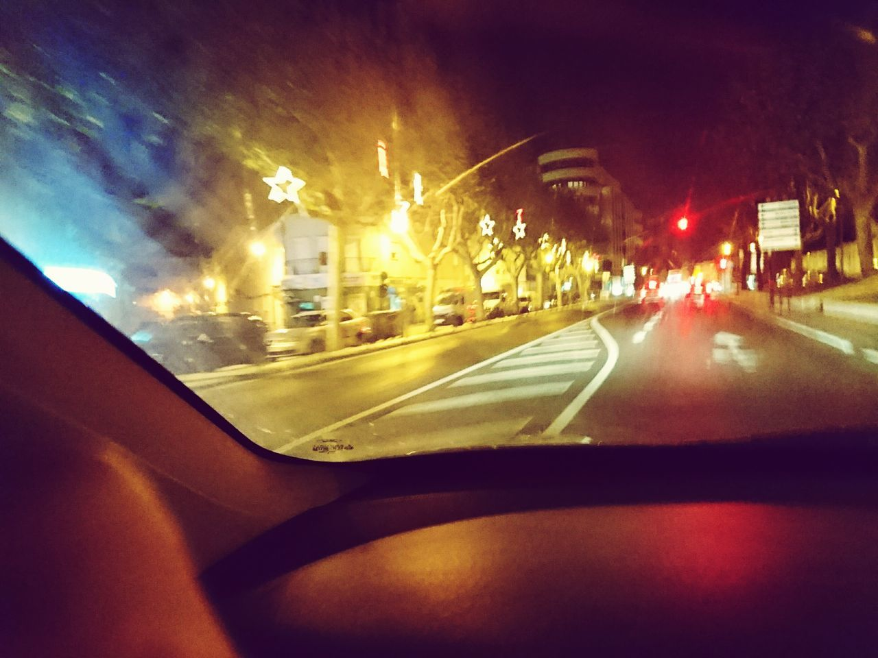 Drivebyphotography Transportation Night Car Interior Street Illuminated Road Tree City Car
