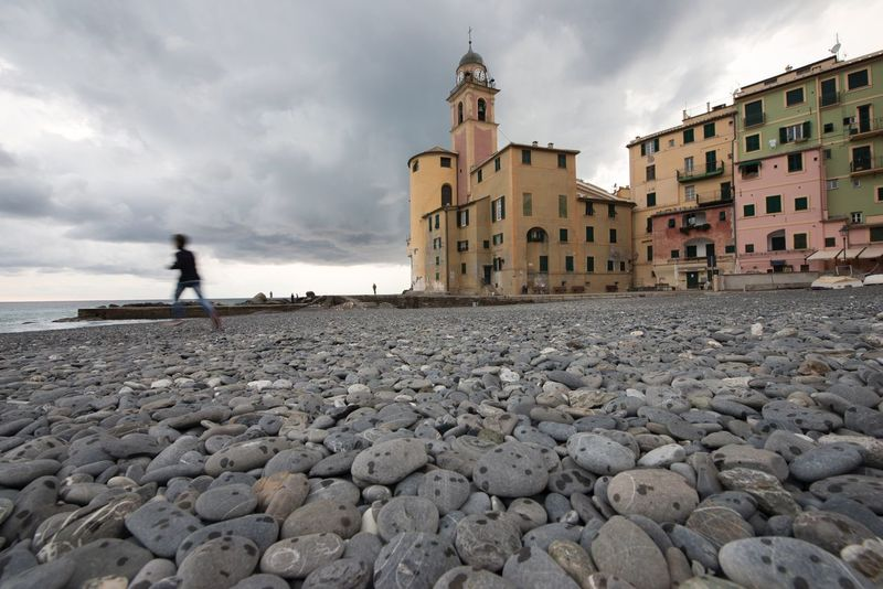 Inizia la pioggia Architecture Building Exterior Built Structure Sky Cloud - Sky Full Length Real People Outdoors Day One Person Standing Men Nature People It's Raining Camogli Italia Cloudy Day🌦