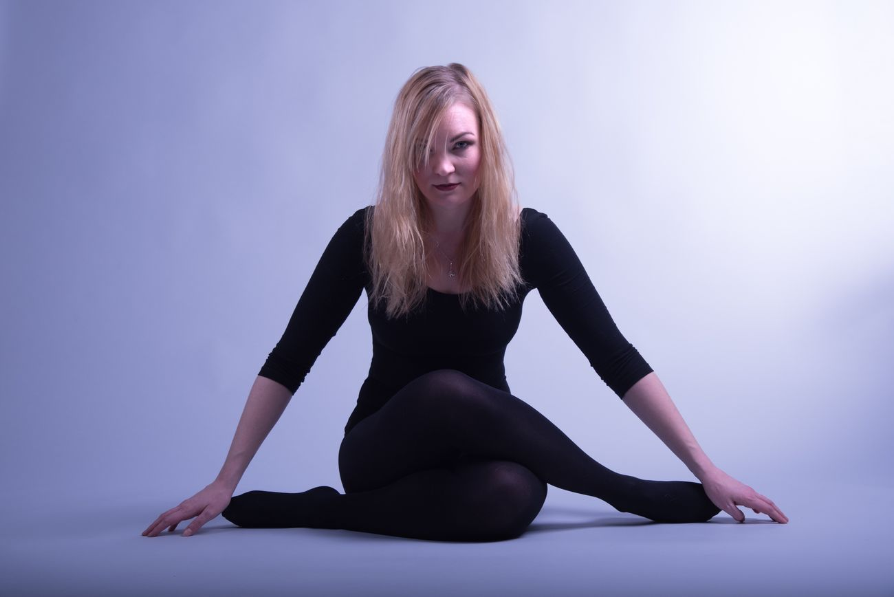 Lovely and talented actor Nelli Sinisalo :-) Full Length One Person Blond Hair Sitting Front View Studio Shot Young Adult Portrait Real People Young Women Flexibility Beautiful Woman Indoors  Day
