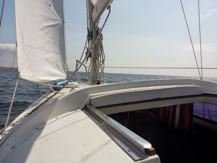 Water Sea Nautical Vessel Sailing Day Outdoors No People Sky Sailboat Nature Close-up Rigging Yachting