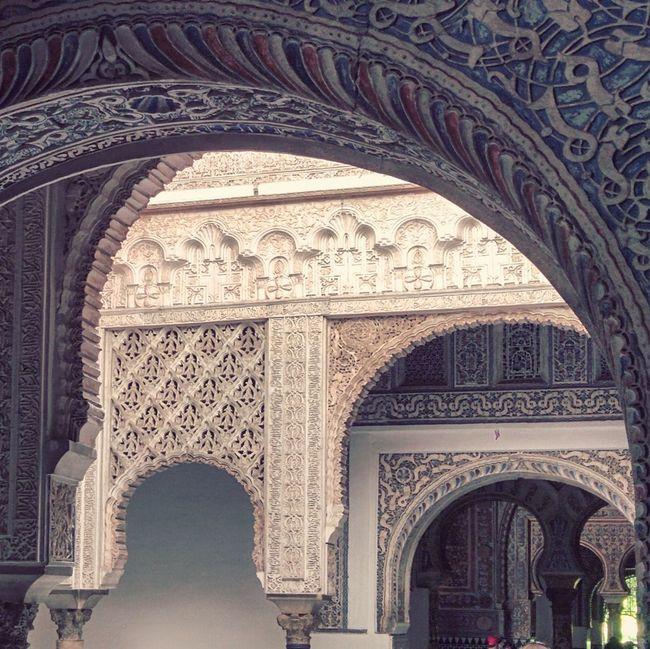 Arcs Alcazar Seville Muslim Architecture SPAIN