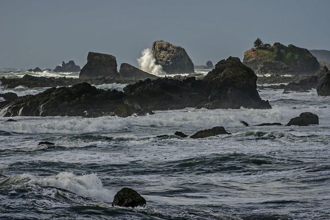 A wave far away in Cresent City California. I took this shot from the Lighthouse. Ocean Ocean View Beach Wave Waves, Ocean, Nature Rock Formation Popular Photos Outdoors Nature Scenics Enjoying The View Check This Out Power In Nature Popular EyeEm Best Shots Shot Of The Day Canon Gloriousday Spetacular