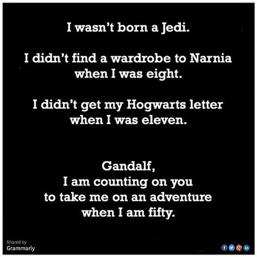 Truth. ? At home not feeling well today and this cheered me up. 11 years, Gandalf!! Haha Goodmorning MORNINGFUNNY Gandalf Nerdgirlproblems