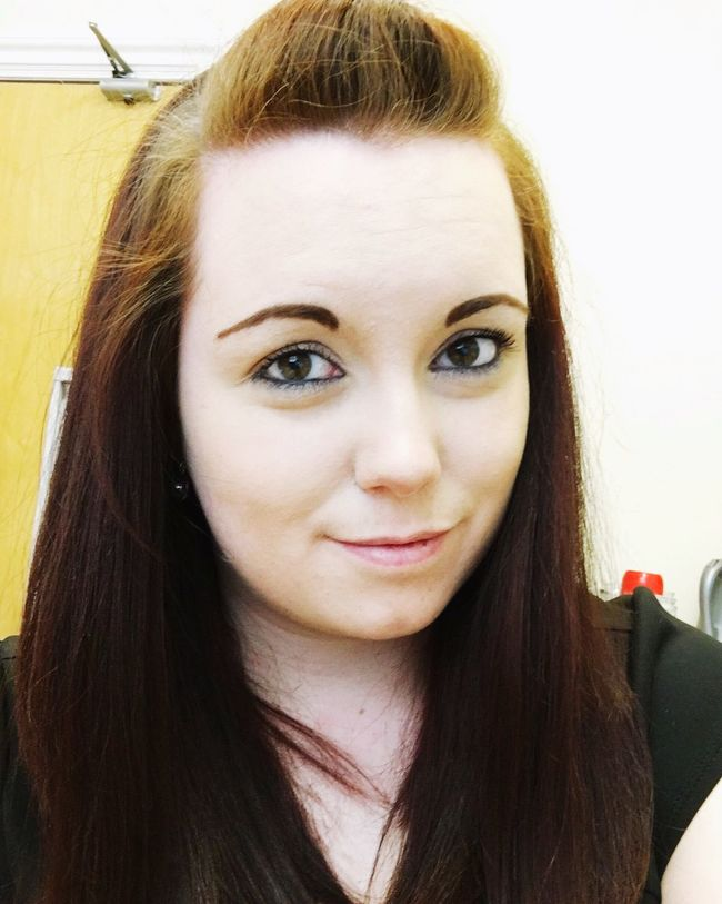 Happy Ginger Scottish Lass Smile Selfie Scotland Redhead Work Brown Eyes