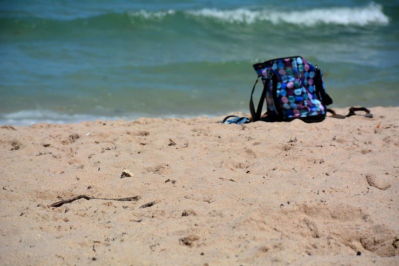 EyeEm Selects Beach Water Day Sand Outdoors Blue Color Seashore Vacation Ocean Tide Surf Bag Beach Accessories Seaside Sandy Beach Wave Summer Vibes