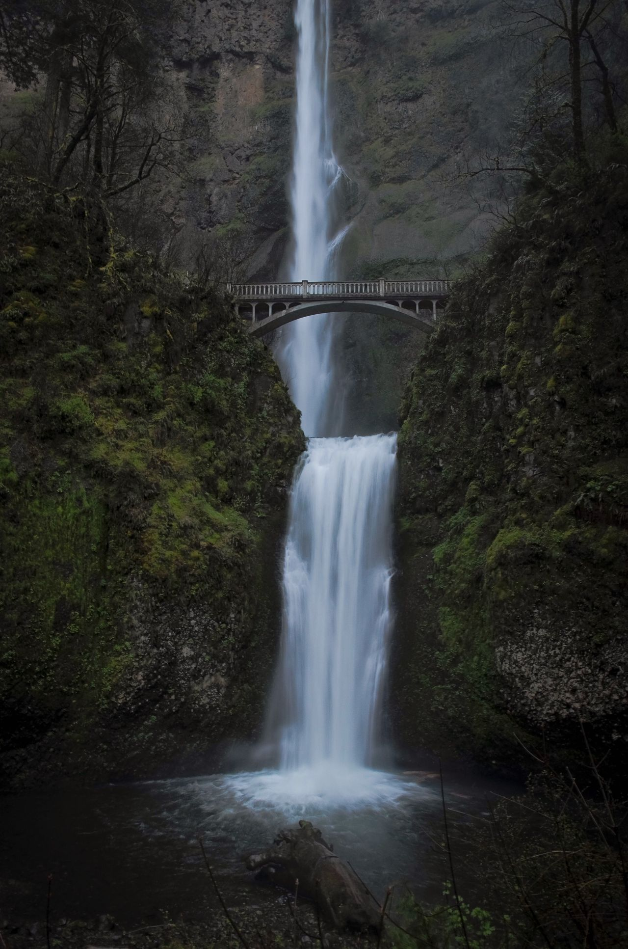 A rare empty bridge. Waterfall Long Exposure Motion Water Flowing Water Bridge - Man Made Structure Blurred Motion Power In Nature Scenics Connection River Nature Built Structure Beauty In Nature No People Outdoors Rapid Architecture Travel Destinations Day EyeEm Best Shots EyeEmBestPics Bridge Oregon Multnomah Falls