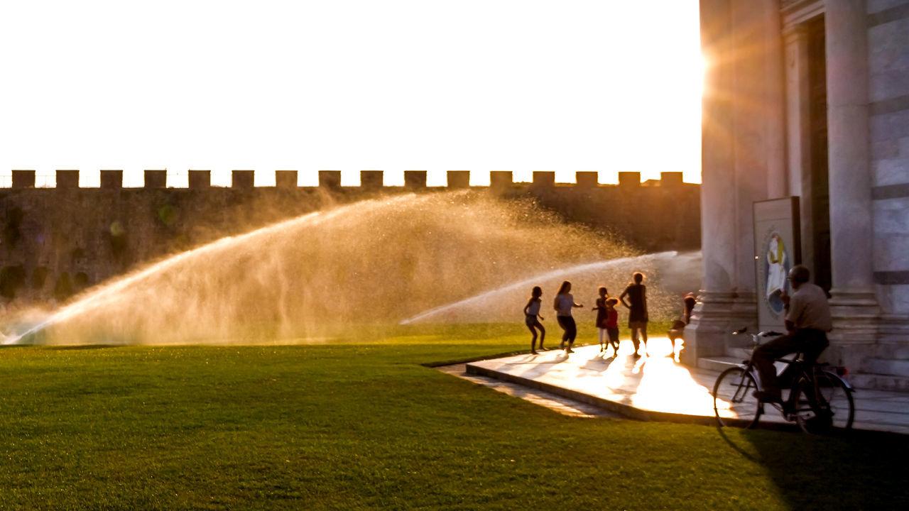 Kids Being Kids Kids Having Fun Kids Playing Noon Noontime  Sprinkler In Grass Sprinklertime Sunset Sunset Silhouettes Water Drops Water Play EyeEmNewHere EyeEmNewInHere