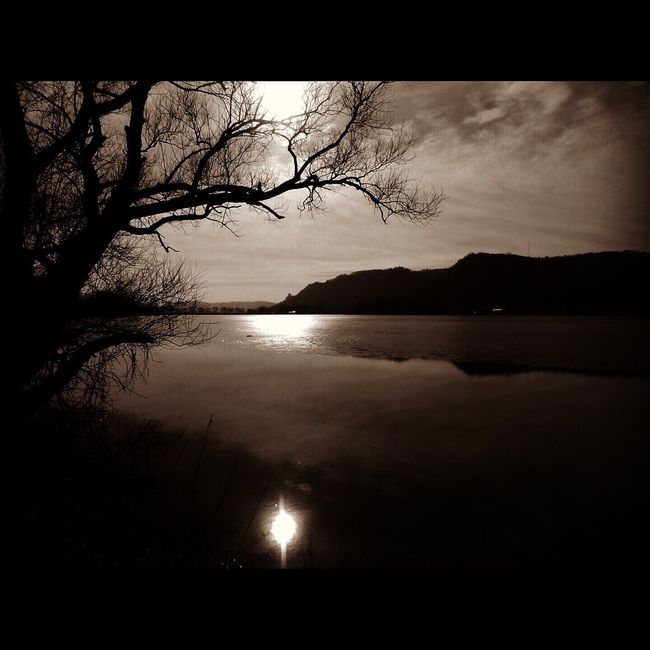 Somberance Somber Reflective Monochrome The Driftless Region Karst Mood Peaceful 70's Vibe Lake Lake Winona Minnesota Hills Bluffs Rolling