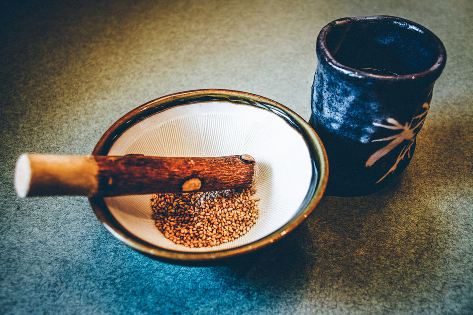 Bowl Close-up Day Drink Food Food And Drink Fresh On Eyeem  Freshness Healthy Eating High Angle View Indoors  Japanese Culture Mortar And Pestle No People Sesame Still Life Table