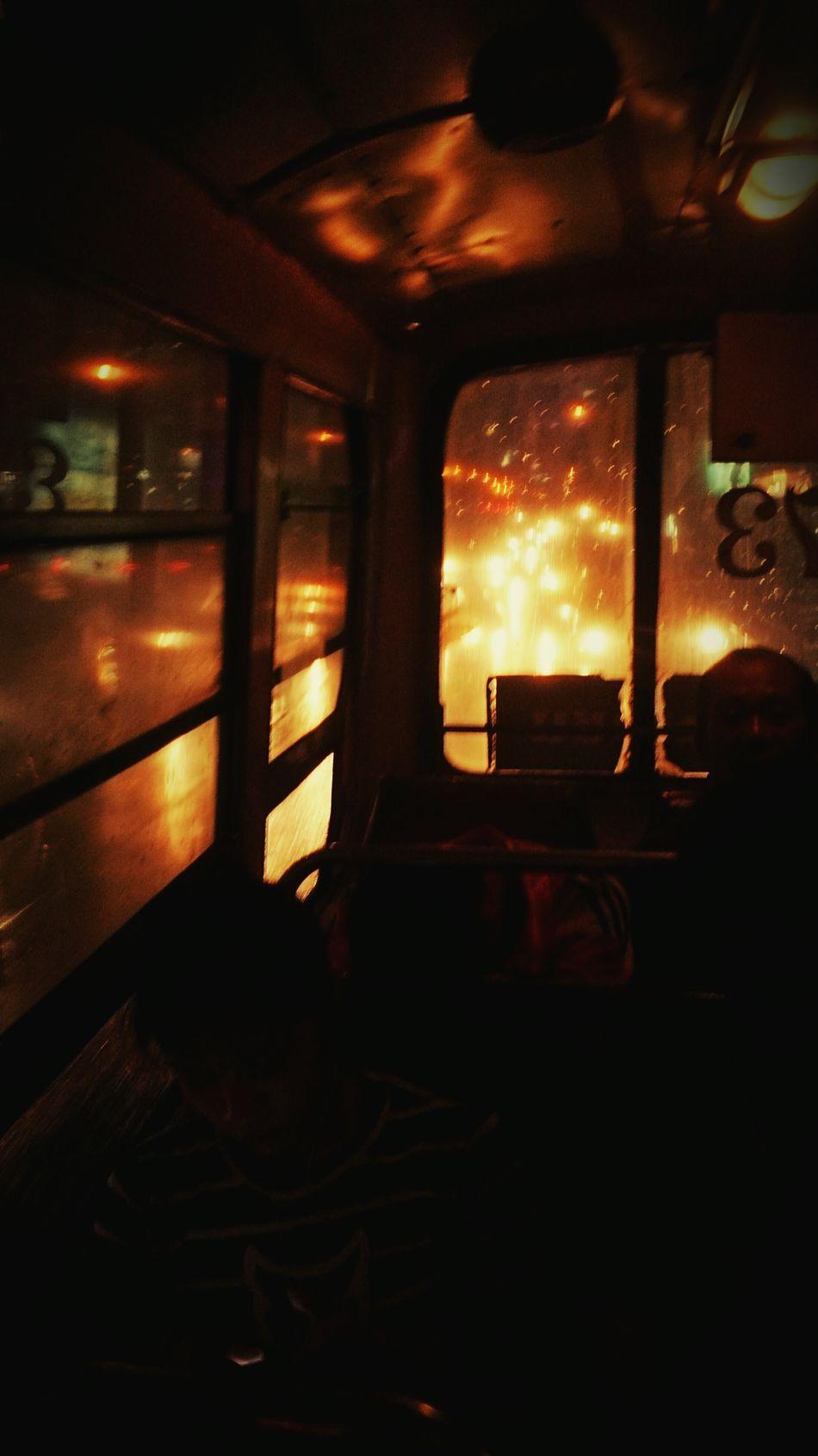 Bangkok Thailand. Streetphotography Starting A Trip Night Lights Nightbus Moving People Traveling Public Trasportation Thailand_allshots