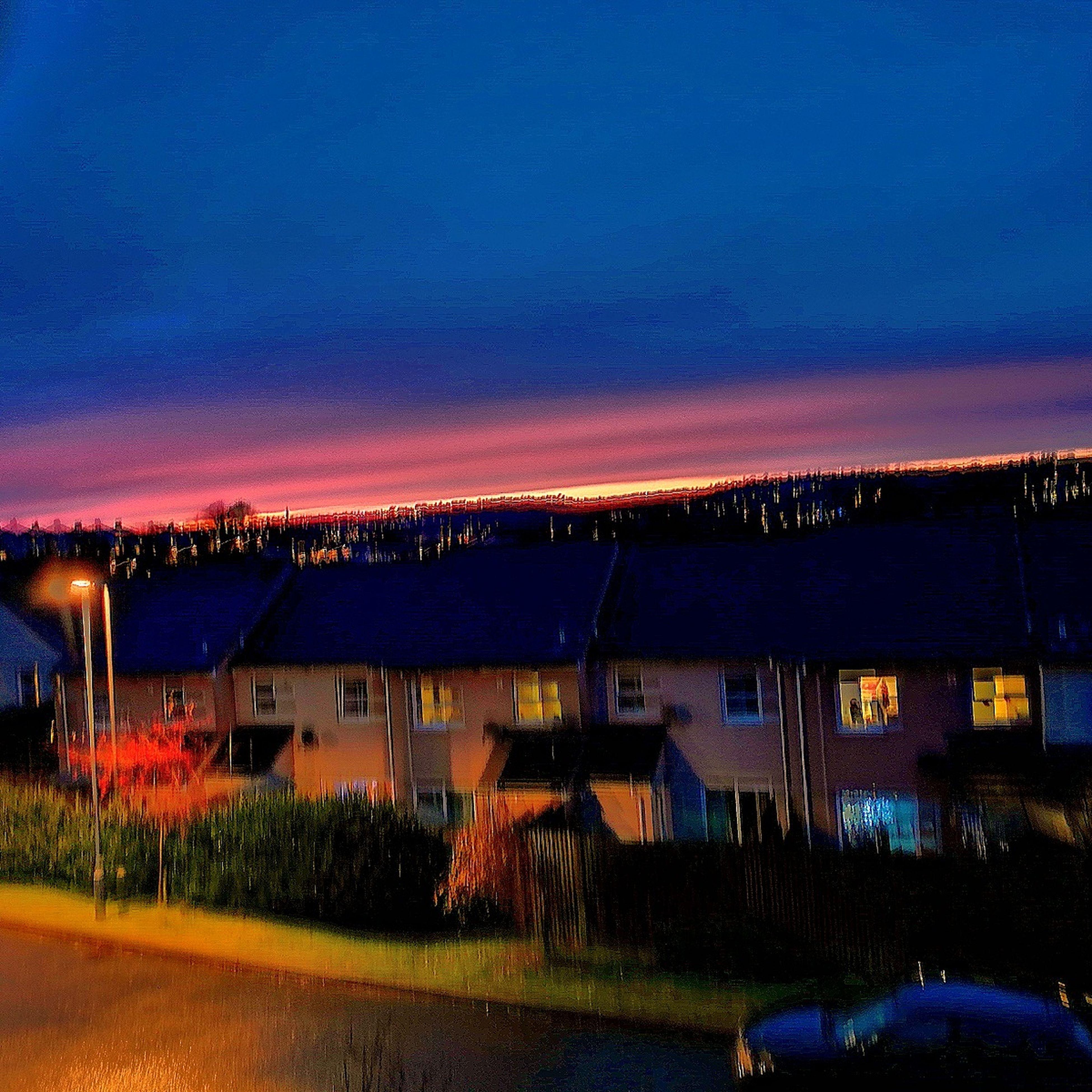 night, illuminated, architecture, sky, road, outdoors, neon, stadium, milky way, star - space, galaxy, no people