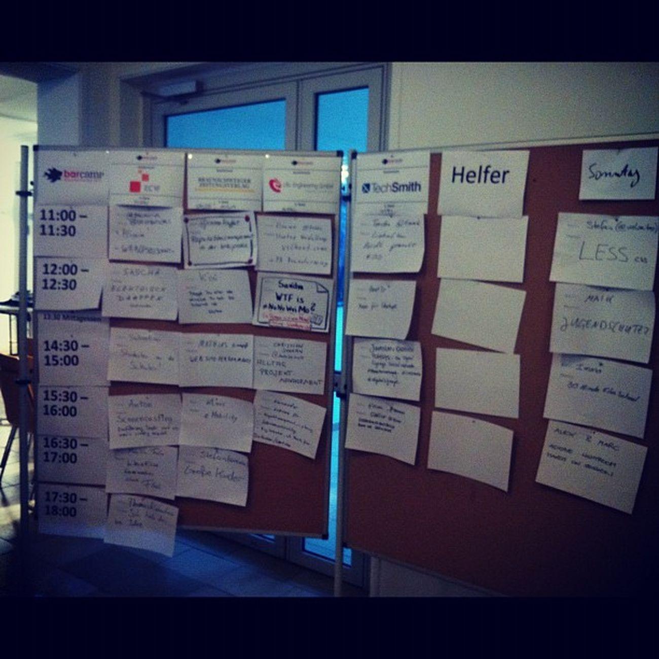 Sessionplan hängt natürlich auch schon #barbs2011 Barbs2011